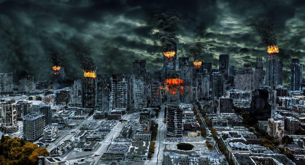 Zruinowane miasto. Apokalipsa