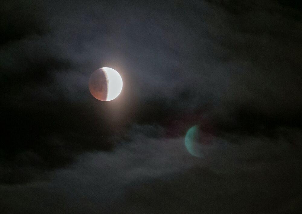 Zaćmienie Księżyca w Pietrozawodsku