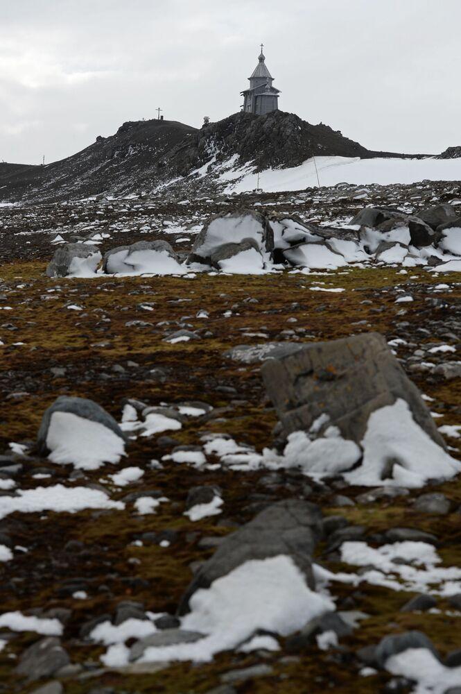 Cerkiew Trójcy Świętej na Wyspie Króla Jerzego, Antarktyka