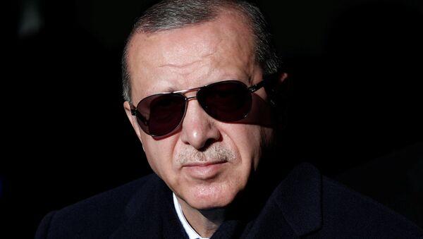 Turkish President Tayyip Erdogan is pictured during an opening ceremony in Istanbul, Turkey December 8, 2018 - Sputnik Polska