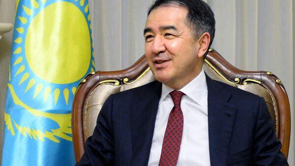 Premier Kazachstanu Bakytżan Sagyntajew podczas spotkania z rosyjską delegacją pod przewodnictwem wicepremiera rządu Federacji Rosyjskiej Dmitrija Rogozina w Astanie - Sputnik Polska
