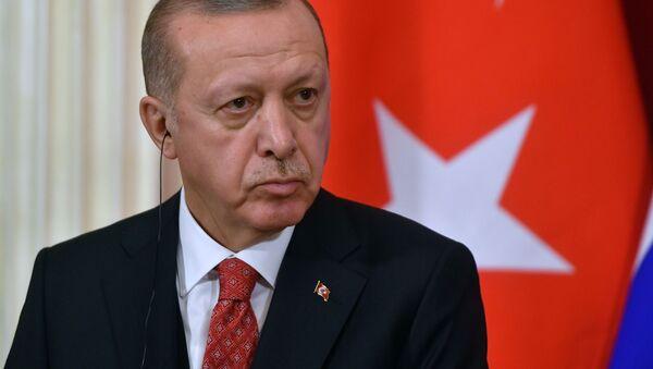 Prezydent Turcji Recep Tayyip Erdogan. Zdjęcie archiwalne - Sputnik Polska