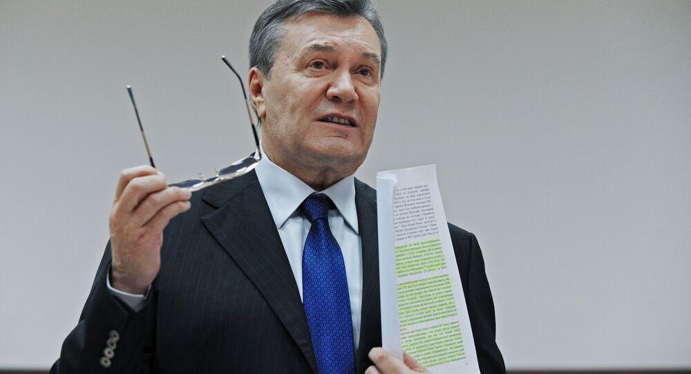 Były prezydent Ukrainy Wiktor Janukowycz