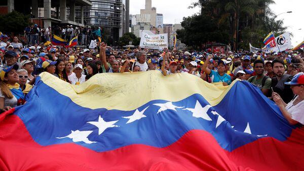 Protesty w Caracas - Sputnik Polska