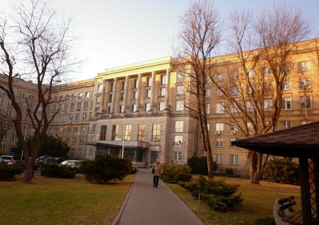 Budynek Agencji Bezpieczeństwa Wewnętrznego w Polsce.