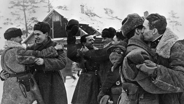 Spotkanie żołnierzy, 18 stycznia 1943 roku - Sputnik Polska