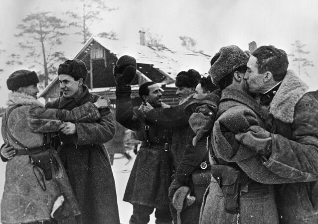 Spotkanie żołnierzy, 18 stycznia 1943 roku