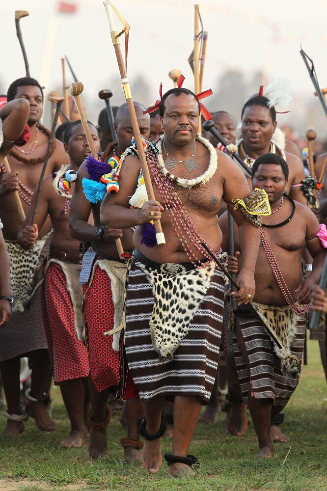 Mswati III król Suazi