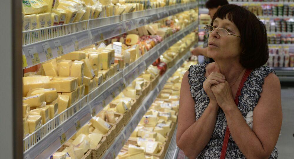 W hipermarkecie, Nowosybirsk, Rosja
