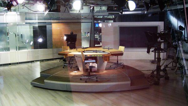 Studio telewizyjne fińskiej telewizji YLE - Sputnik Polska