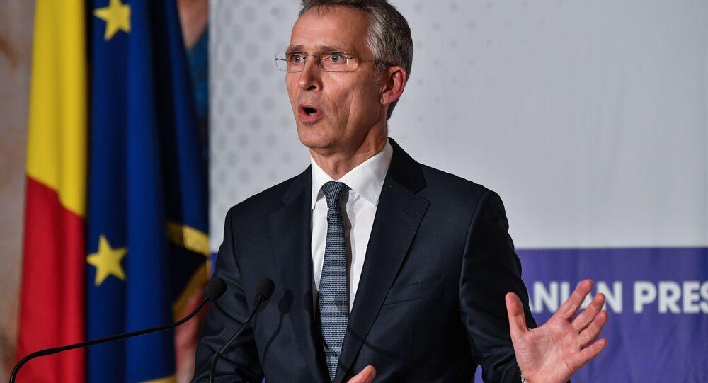Sekretarz generalny NATO Jens Stoltenberg w Bukareszcie