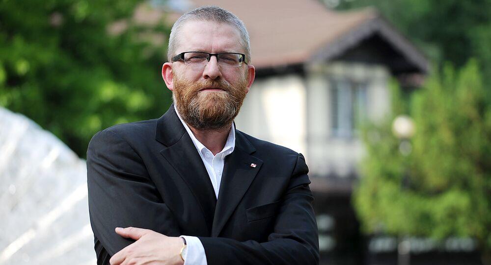 Reżyser i publicysta Grzegorz Braun