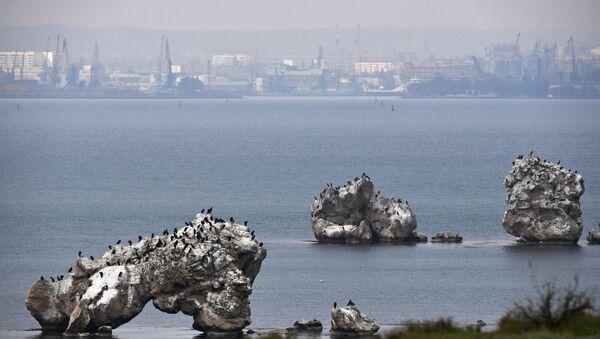 Widok na port, Kercz - Sputnik Polska