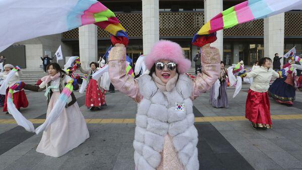 Kobiety świętują Lunarny Nowy Rok, Seul, Korea Południowa - Sputnik Polska