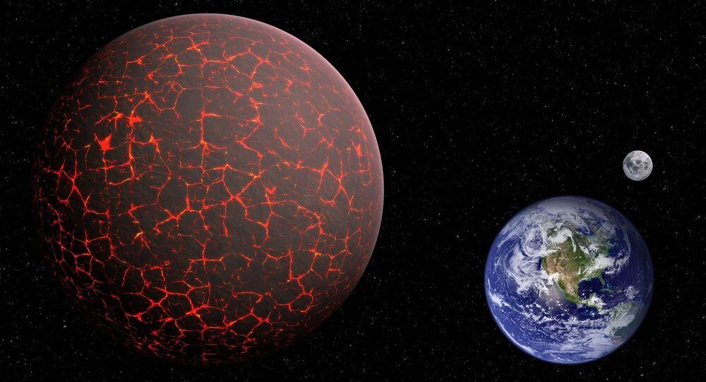 Nibiru, Ziemia i Księżyc