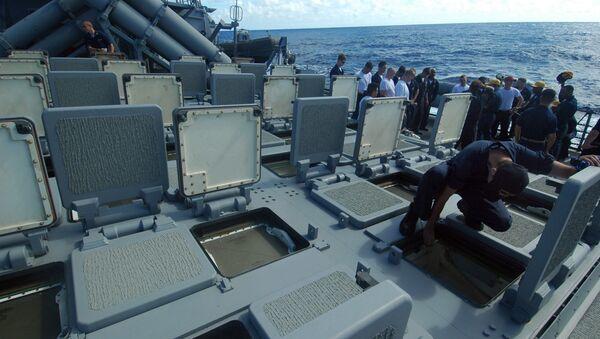 Zunifikowana amerykańska okrętowa wyrzutnia rakietowa dla pocisków kierowanych Mk 41 - Sputnik Polska