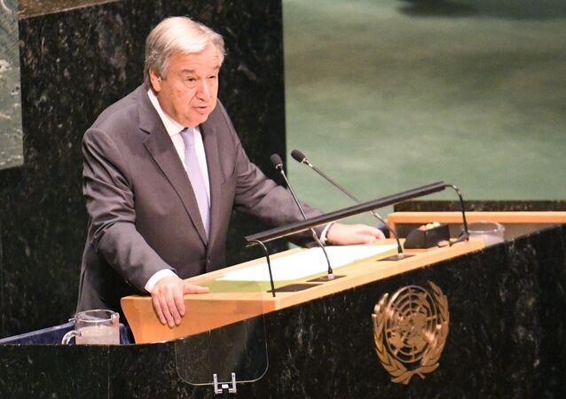 Sekretarz generalny ONZ António Guterres