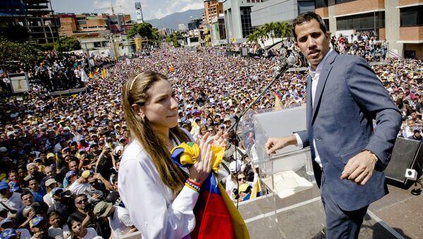 Akcja poparcia lidera opozycji Juana Guaido w Caracas - Sputnik Polska