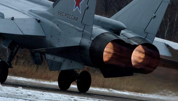 Wielozadaniowy myśliwiec MiG-31 Sił Powietrzno-Kosmicznych Rosji - Sputnik Polska