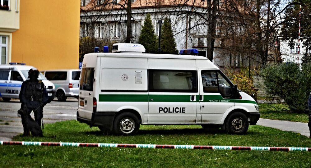 Czeska policja w Ostrawie