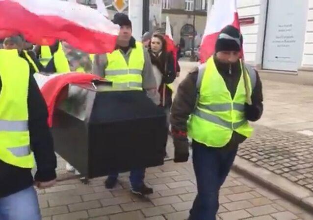 Strajk rolników w Warszawie