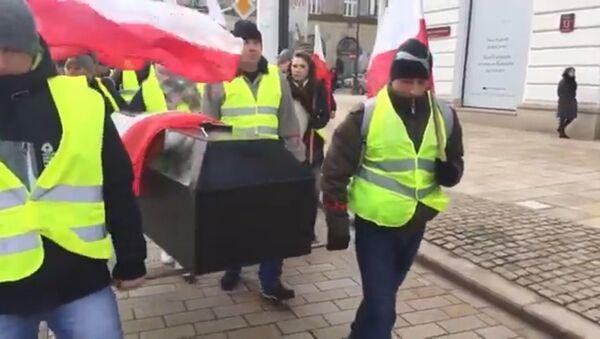 Strajk rolników w Warszawie - Sputnik Polska