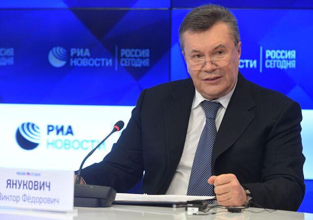 "W ""Rossiya segodnya trwa konferencja prasowa Wiktora Janukowycza"