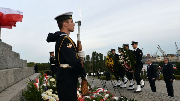 Uroczystości z okazji 75. rocznicy wybuchu II wojny światowej w Gdańsku. Zdjęcie archiwalne - Sputnik Polska