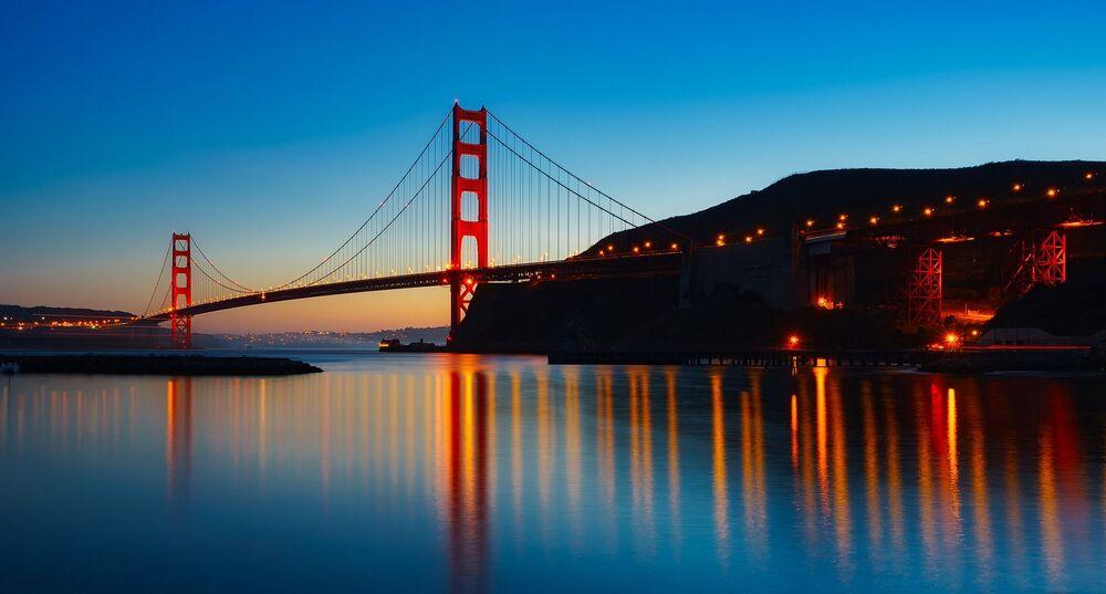 Golden Gate Bridge – most wiszący łączący San Francisco z hrabstwem Marin