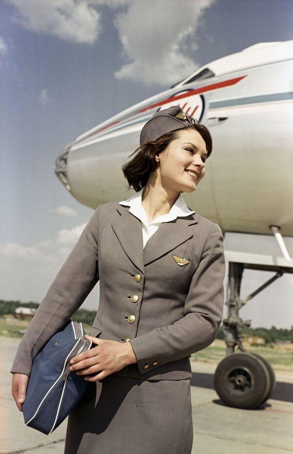 Stewardessa Aeroflotu w moskiewskim Wnukowie - Sputnik Polska