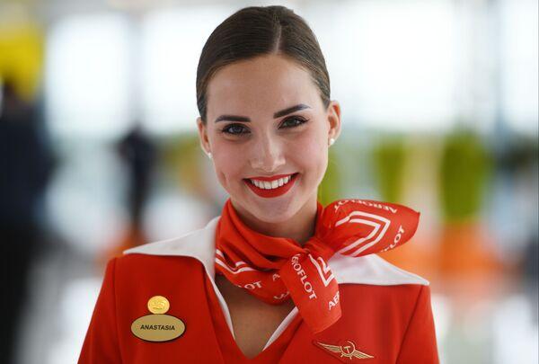 Stewardessa Aeroflotu Anastazja Biełousowa - Sputnik Polska
