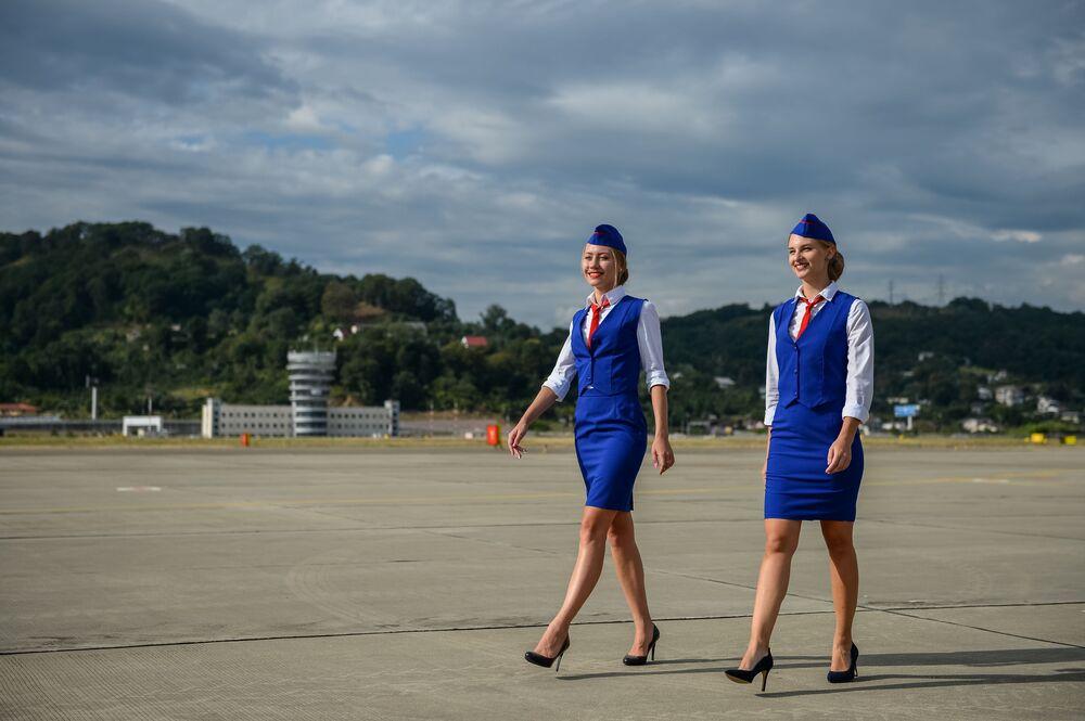 Stewardessy w Soczi