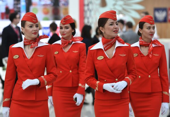 Stewardessy linii lotniczych Aeroflot - Sputnik Polska