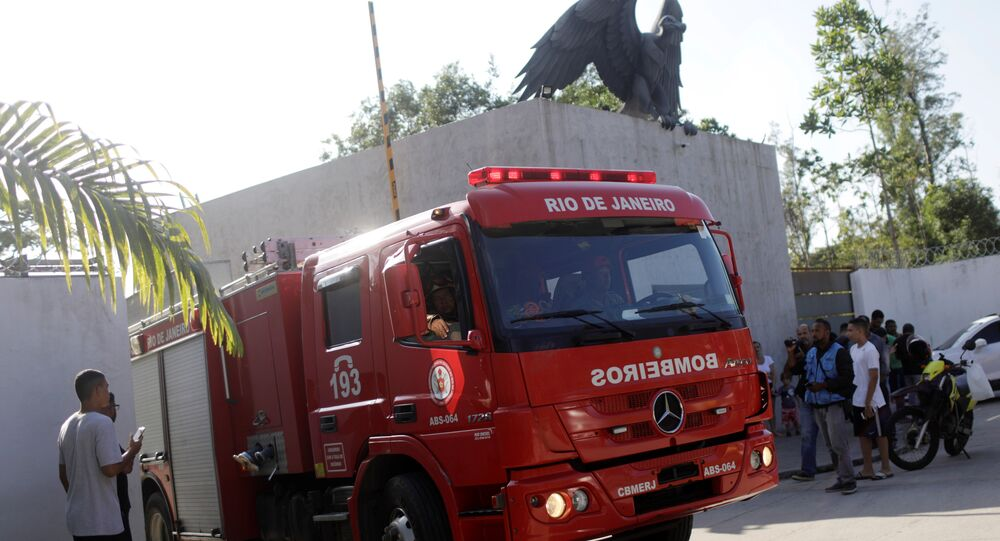 Pożar w ośrodku szkoleniowym klubu piłkarskiego Flamengo Rio de Janeiro