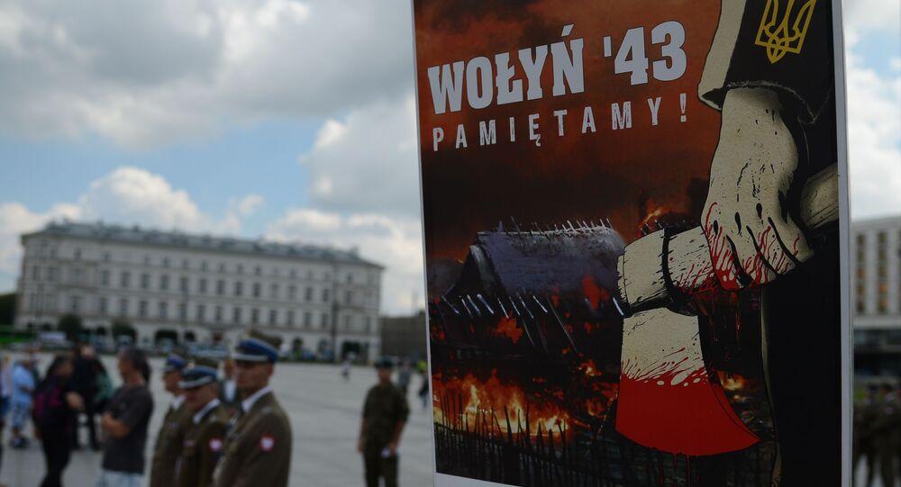 Akcja ku pamięci ofiar rzezi wołyńskiej w Warszawie