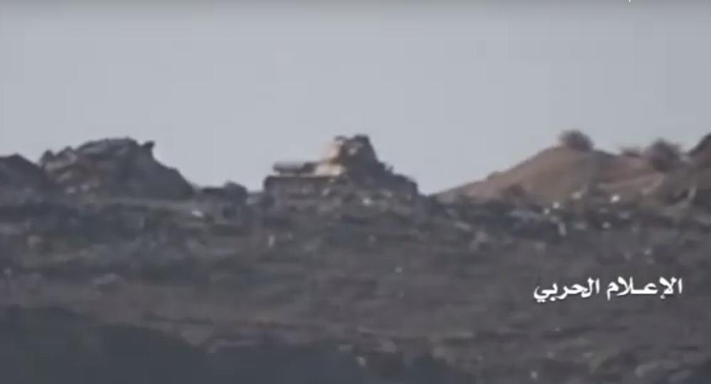 Ostrzał rakietowy czołgu T-34-85 w Jemenie