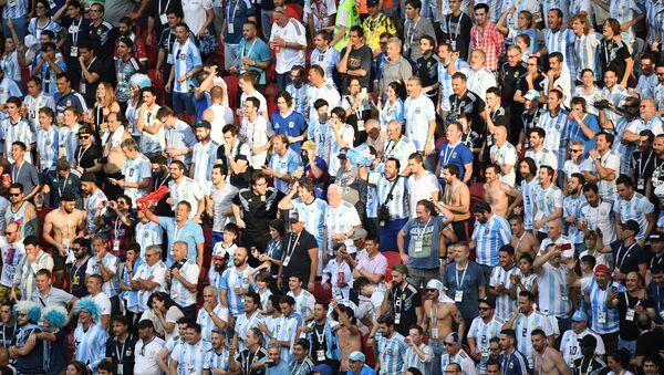Argentyńscy kibice na Mistrzostwach Świata w Piłce Nożnej w Rosji - Sputnik Polska