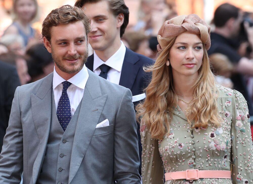 Książę Monako Pierre Casiraghi i jego żona Beatrice Casiraghi