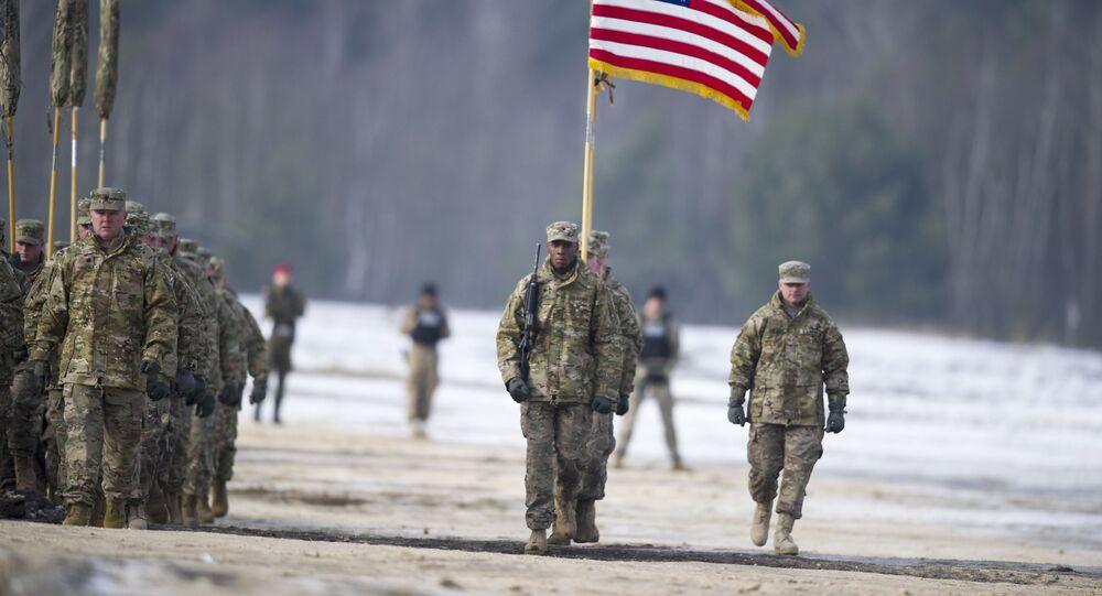 Amerykańscy żołnierze w Polsce. Zdjęcie archiwalne