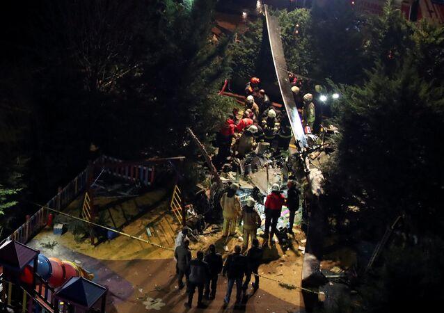 Katastrofa helikoptera wojskowego w Stambule