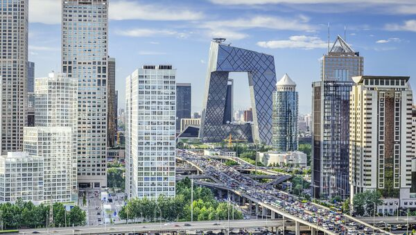 Chińska dzielnica biznesowa w Pekinie - Sputnik Polska