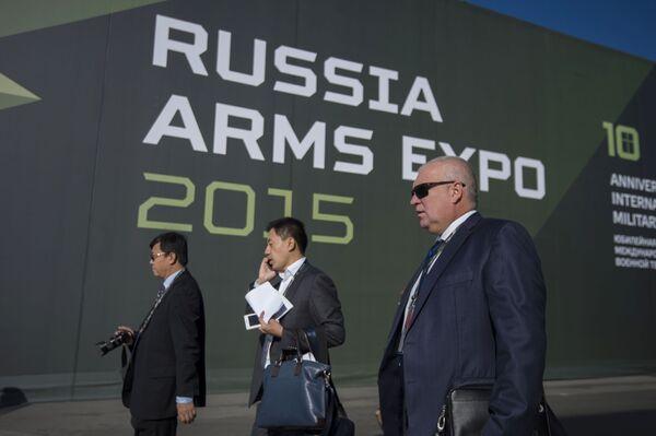 Uczestnicy 10. Międzynarodowych Targów Wojskowych Russia Arms Expo - Sputnik Polska