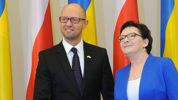 Arcenij Jaceniuk i Ewa Kopacz - Sputnik Polska