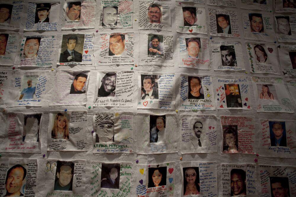 Zdjęcia ofiar zamachów terrorystycznych 11 września w Nowym Jorku