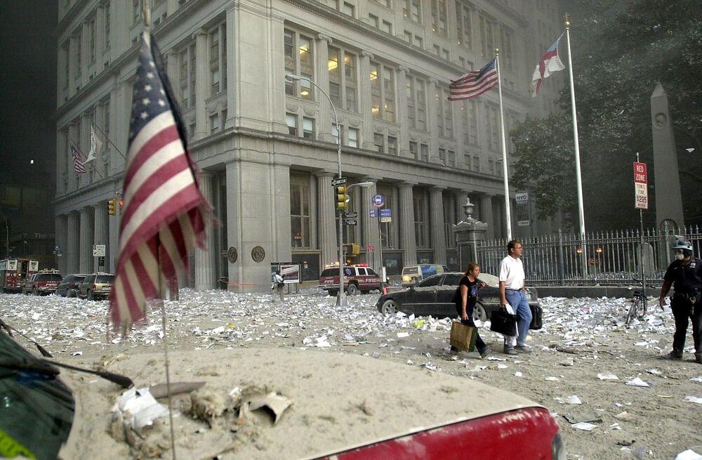 Ulice Nowego Jorku po zamachach terrorystycznych 11 września