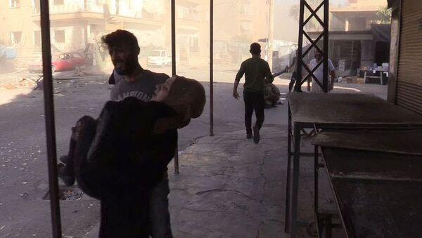 Ewakuacja rannych podczas ostrzału miasta Dair az-Zaur, 12.02.2019 - Sputnik Polska