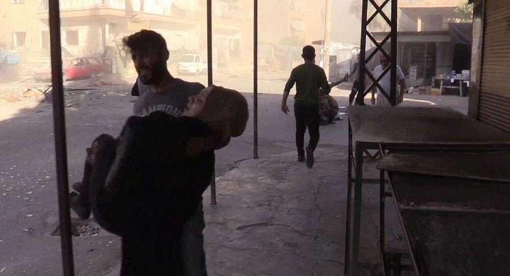 Ewakuacja rannych podczas ostrzału miasta Dair az-Zaur, 12.02.2019