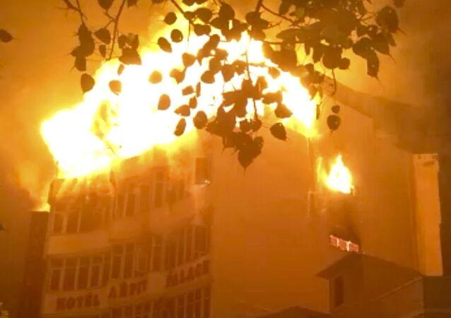 Pożar w hotelu w Delhi