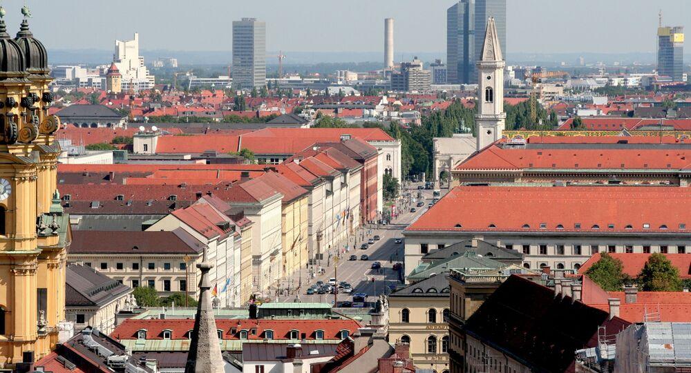 Widok na Monachium, Niemcy