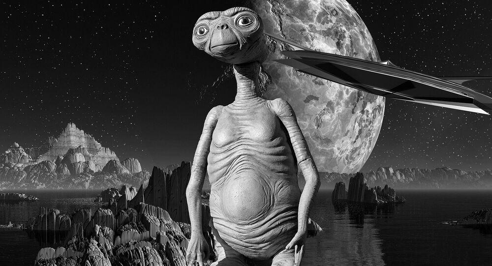 Artystyczne wyobrażenie istoty z obcej planety